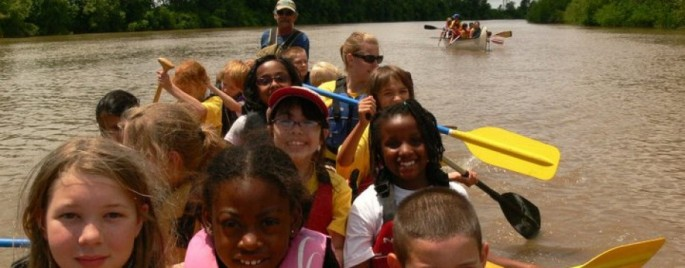 Bringing the classroom out to the river.