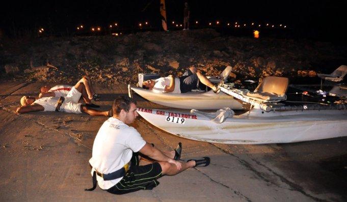 Missouri River, MR340 Race: Team Cat-astrophe - Hermann Checkpoint (DTRS photo)