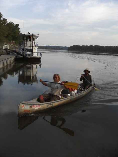 Tom and Tyler from Great Falls, MT. Paddled from Great Falls to New Orleans.