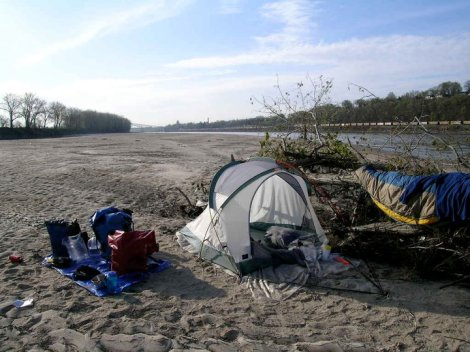 Norm Miller Campsite from his Lewis and Clark Bicentennial paddle UP the Missouri River-2004