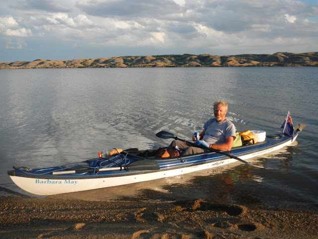 Bob Bellingham in his Shasta, which is now my Shasta, and my ride down the river.