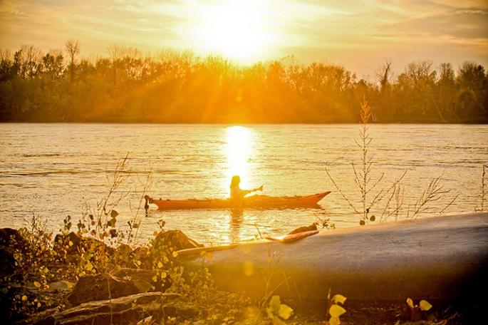 Sunset on the Missouri River, Cooper's Landing, Columbia, MO