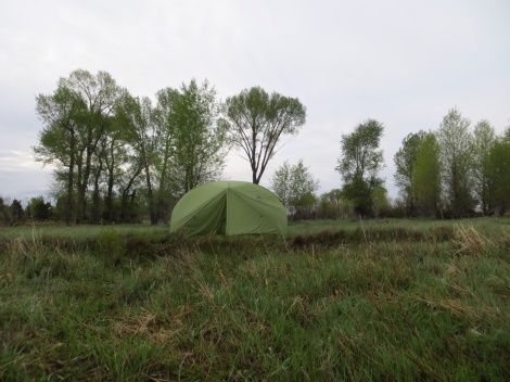This campsite was on an island and was so green and lush. Of course, it rained most of the night.