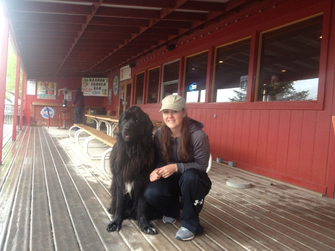 I met Lena and her dog, Ole, who is a Newfoundland, the same breed the Corps of Discovery took along on their expedition. Beautiful dog. And, Lena is pretty cute, too.