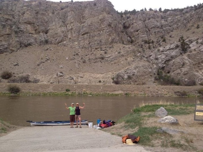 Getting ready to shove off at Three Forks, the Missouri River headwaters.