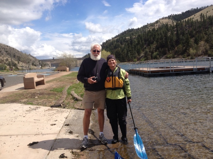 Ron Lukenbill and me below the dam.