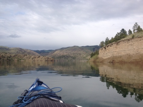 Beautiful glassy waters were a much appreciated condition on the river.