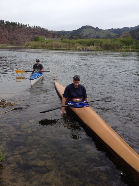 Before I left the lodge, a couple of Great Falls paddlers stopped by to say hi. Bob (r) and Mark.