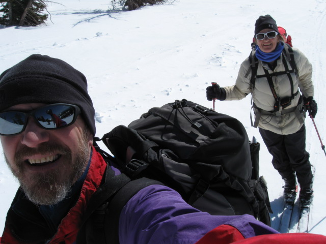 Sometime at the beginning of our ski in to the spring.