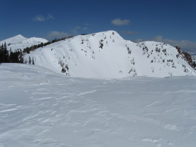 Mount Jefferson from on top of the bowl.