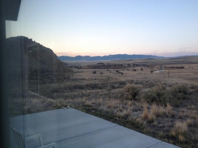 "View of Beaverhead Rock from Robert's ""cabin"""