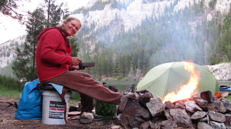 After my hike up to the Mann Gulch lookout, I decided to have a fire. I had collected firewood earlier that morning.