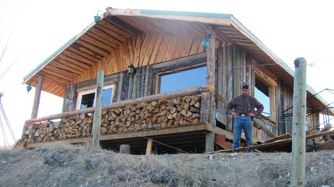 Jim Hicks' custom cabin on the Jefferson River.