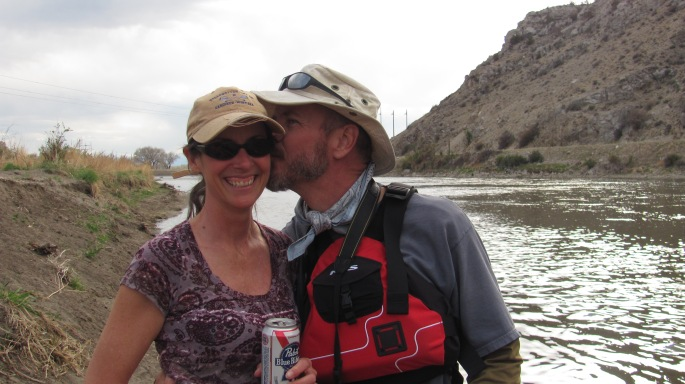 Norm and girlfriend Kristin. I LOVE these guys!! Founders of the wonderful Base Camp International in Livingston, MT.