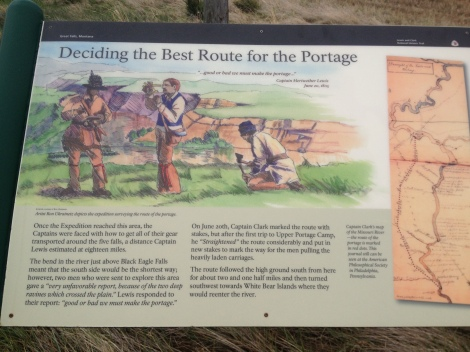 Another historical information sign regarding the Corps of Discovery portage around the falls.
