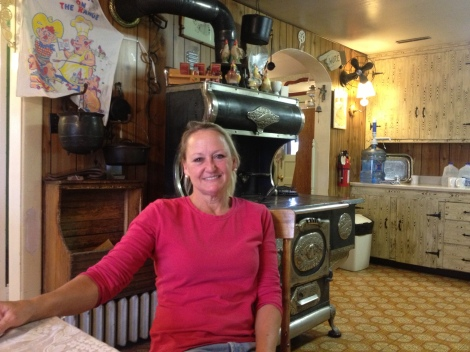 Sandy cooks meals at the store and plays mom to all the men. She participated in a river clean up at Coal Banks, sponsored by Friends of the Breaks and Bureau of Land