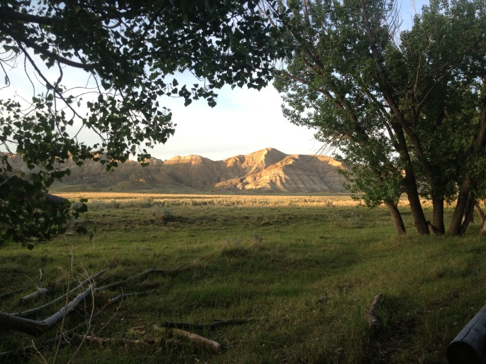 This is the view from the campsite looking inland downriver. I wanted to walk up to the lookout in which Lewis claimed he saw the Rocky Mountains for the first time. I would have to walk a mile and a half in that direction. No problem.
