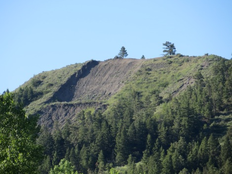 The relentless rain in the previous weeks had saturated the land. This big landslide had occured recently.