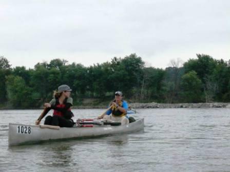 Megan in front, Jodi taking up the rear