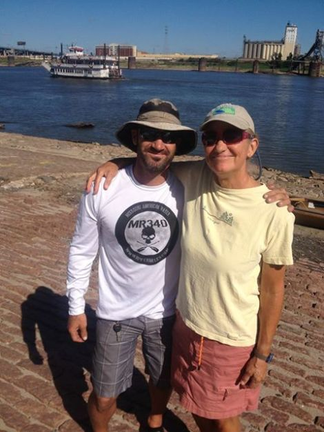 Shane Perrin, whom I adore. I will see him again when I paddle through St. Louis this week-end, September 29. He is planning to paddle with me a ways, and possibly put me up for the night.
