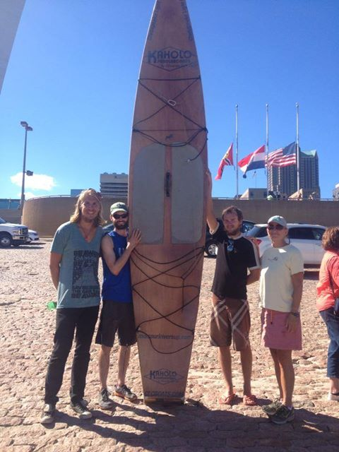 My river brothers, L-R, Josh, Scott, Reed, then me in St. Louis at Scott's historic finish.