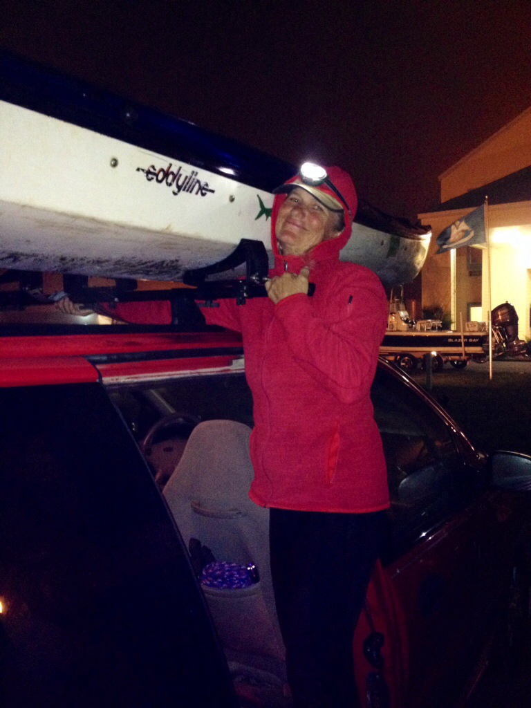 My faithful horse, Blue Moon, an Eddyline Shasta Kayak. What a sweet ride and loyal companion. I love my boat.