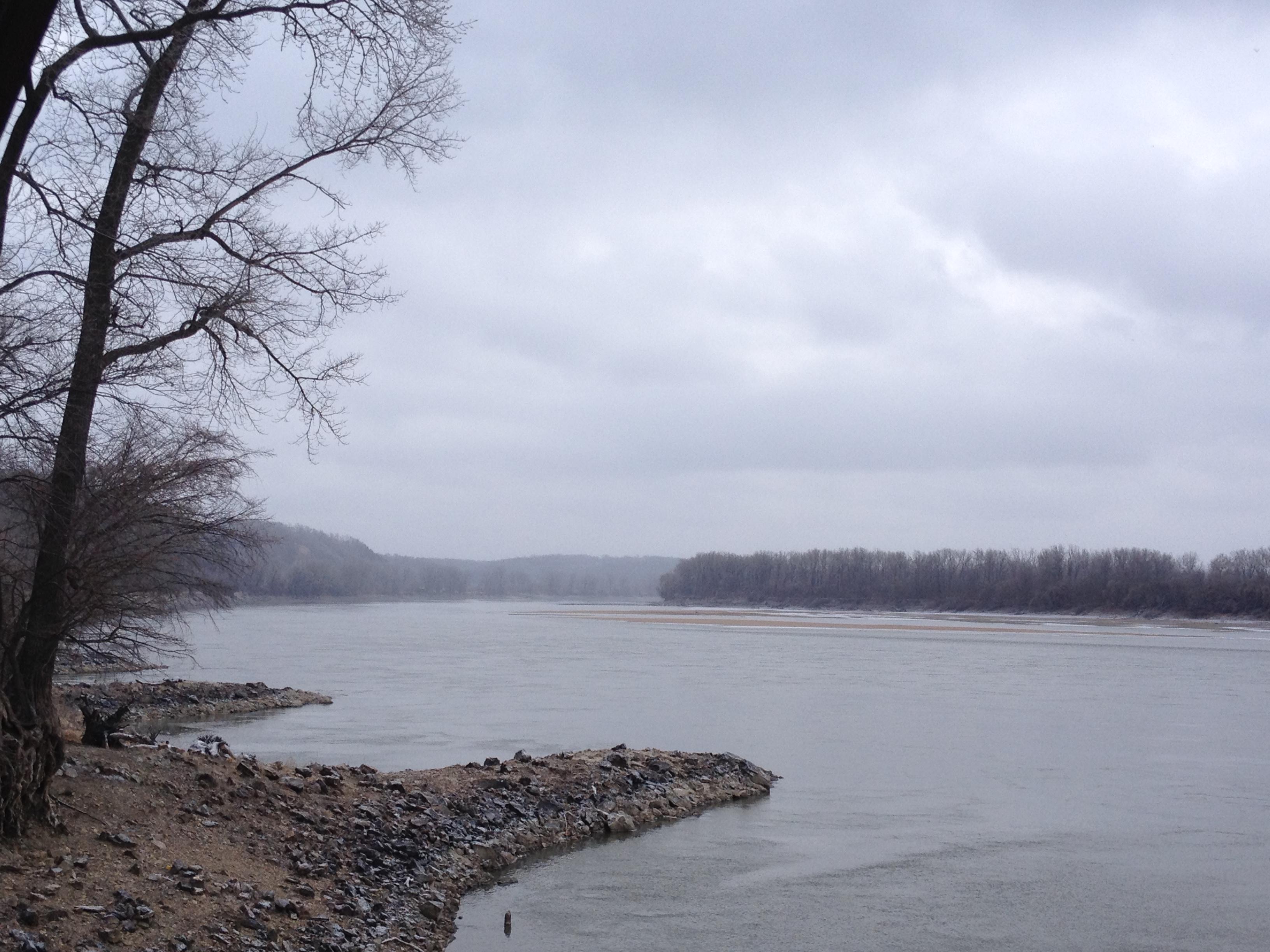 The Missouri River at Cooper's Landing, MO