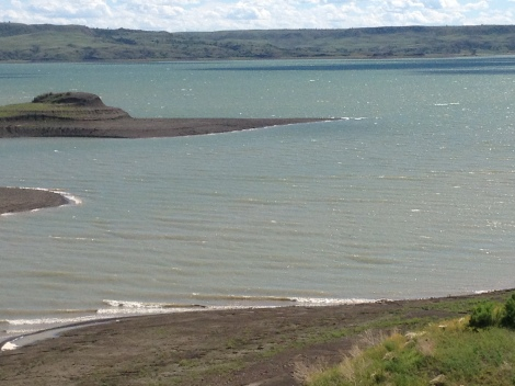 Fort Peck Lake-Hiking the hills was a good way to wait out the wind.