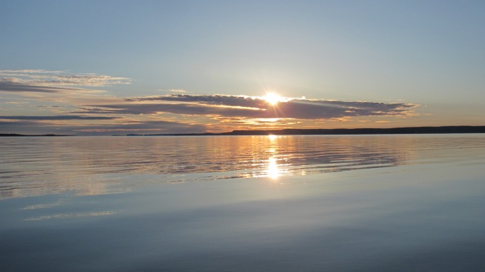 Sunrise on my last day on Fort Peck Lake