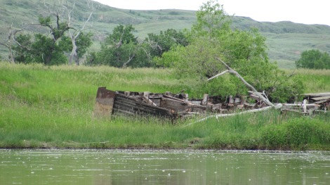 Believed to be the remains of a steamship