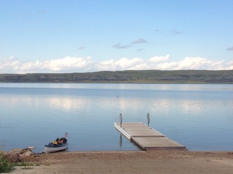 This boat ramp was so beautiful and a pleasant place to camp.