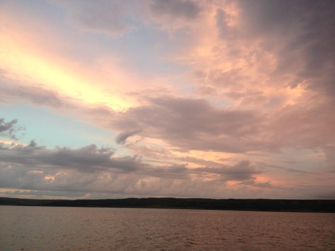 Sunset on Lake Sharpe