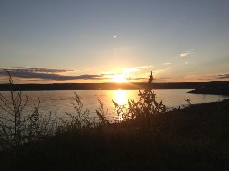 Sunrise on Lake Sharpe
