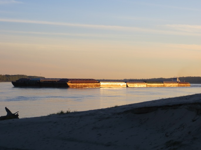 Tow and barge on the Mississippi River