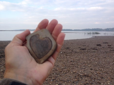 A very special heart stone found just below the Ohio River confluence