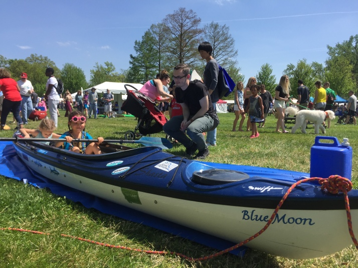 No child was left behind when it came to park paddling at the STL Earth Day Festival. Not one child passed up the opportunity to take a virtual paddle.