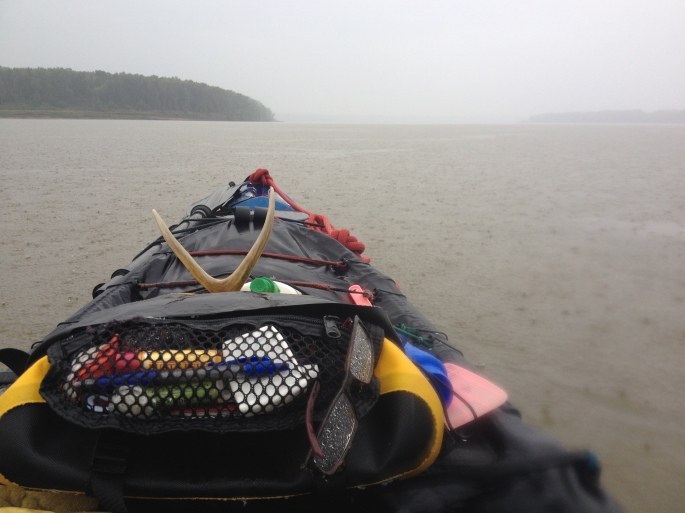 This storm was a soaker. I paddled about six hours in the rain on my way down to Memphis. I spent an extra night on the river just drying out and recouping.